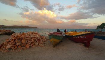 treasure-beach-jamaica-boats-sunset