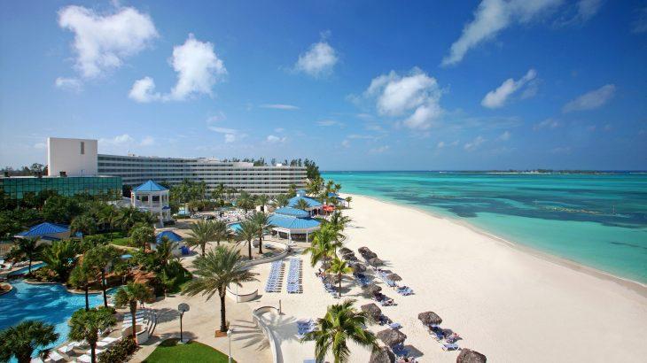 nassau-beach-bahamas-aerial-view