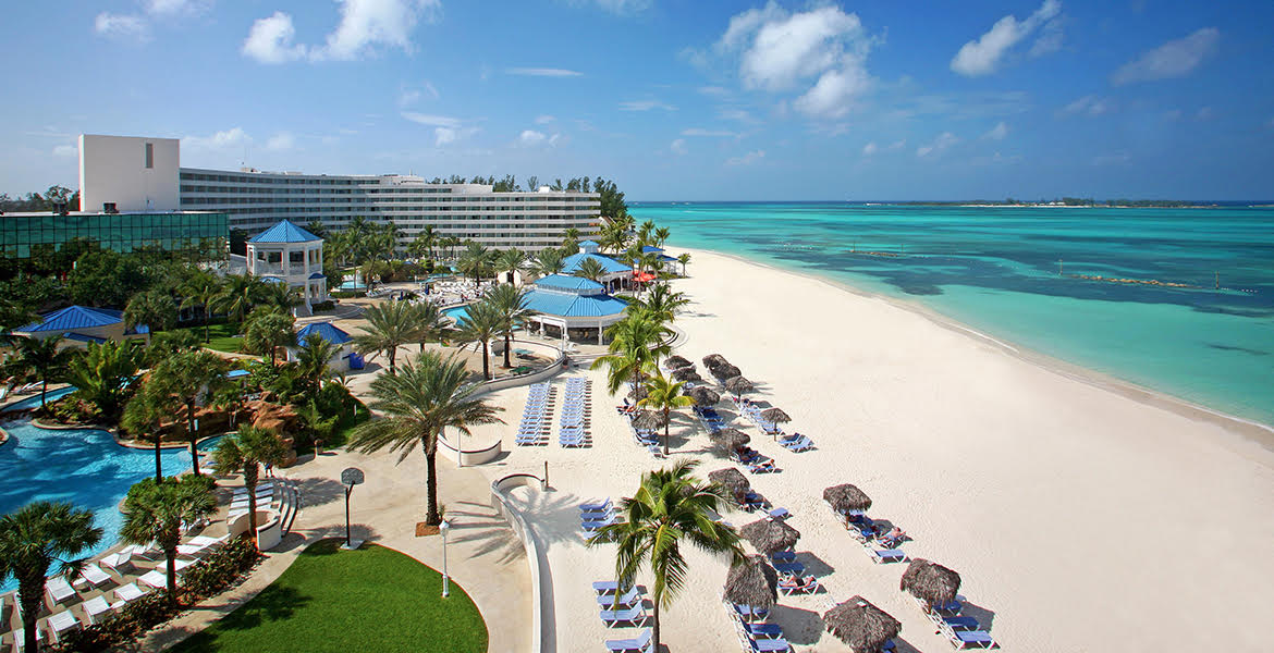 cable-beach-melia-nassau-aerial-view