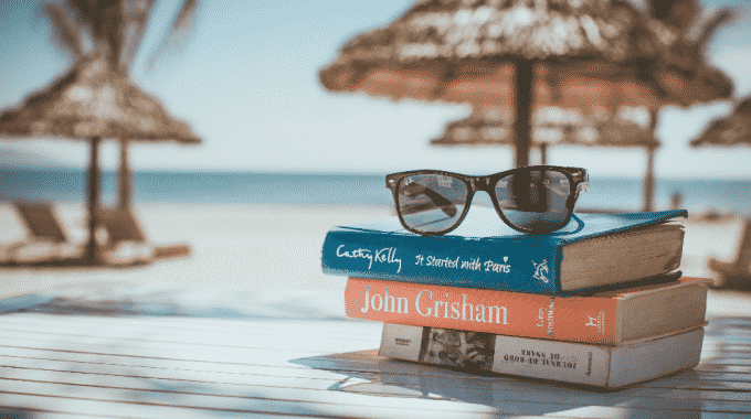stack-books-beach-sunglasses