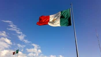 mexican-flag-blue-sky