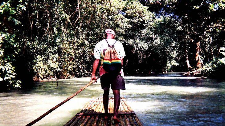 man-bamboo-raft-jamaica
