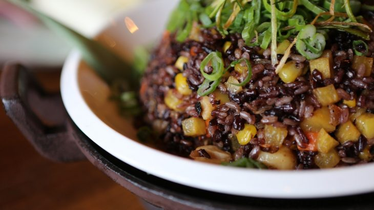 close-up-bowl-rice-beans