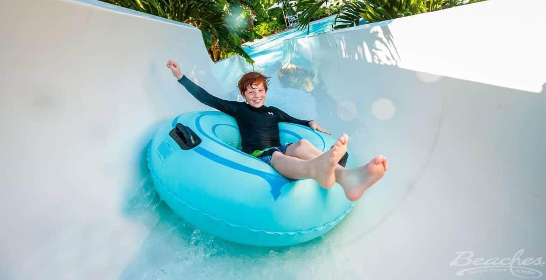 child-tubing-waterslide-beaches-resort-turks-caicos