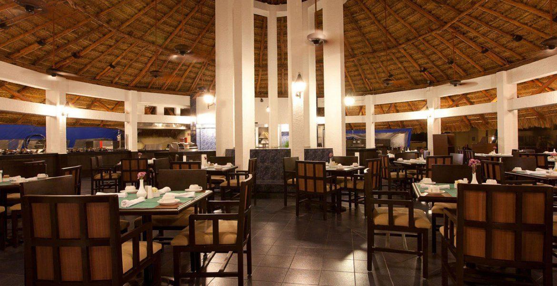 hotel-dining-room-dark-wood-furniture