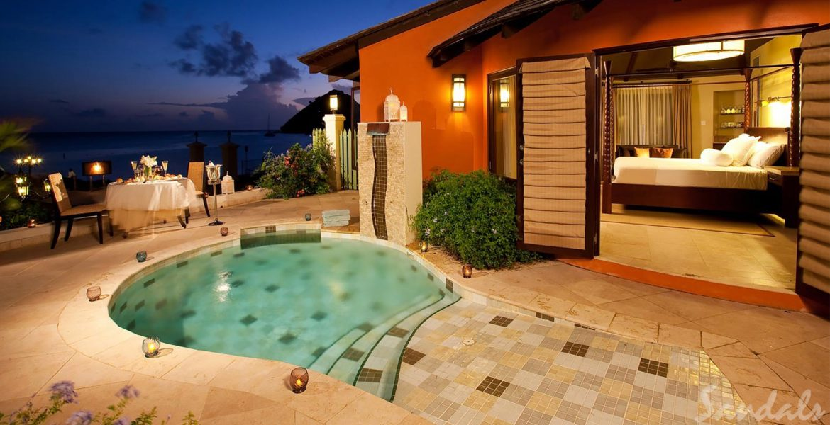 private-pool-sunset-sandals-grand-st-lucian