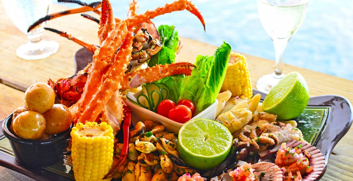 lobster-meal-with-lime-and-veggies