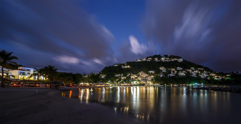 cove-mountain-villas-lit-up-sunset-st-lucia