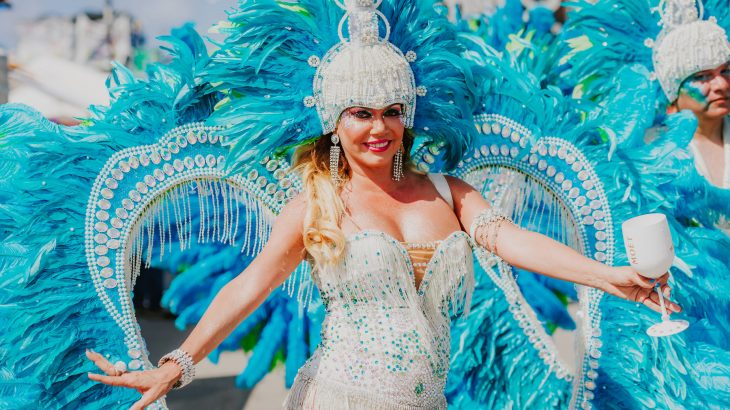carnival-woman-white-dress-blue-wings