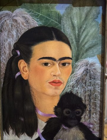 painting-woman-black-hair-with-black-monkey