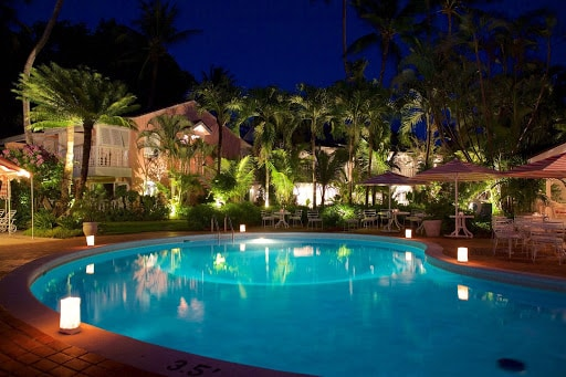 pool-night-cobblers-cove-hotel