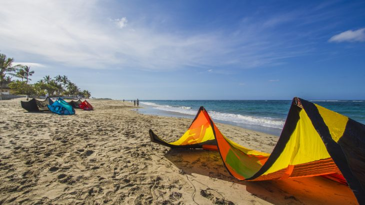 kite-surfing-kite-laying-on-beach-cabarete