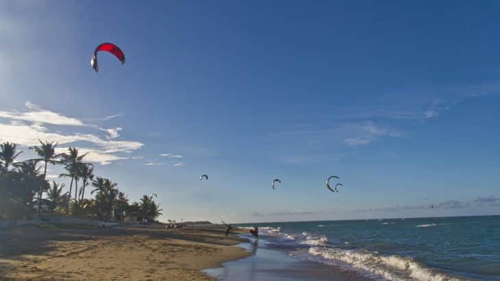 kite-surfing-kites-in-water-cabarete-beach-dominican-republic