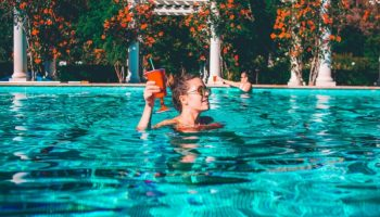 water-pool-blue-girl-drink