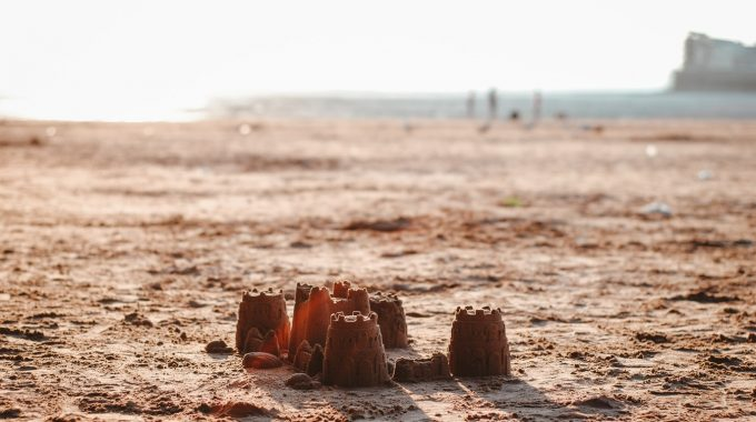 sand-castle-beach-sunset