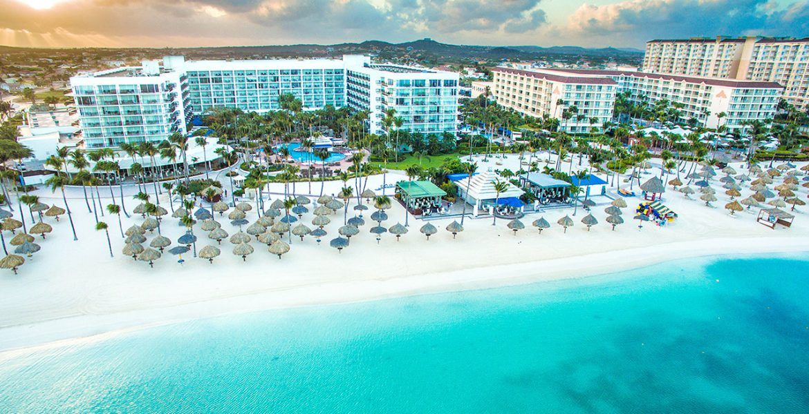aerial-view-Aruba-Marriott-Resort-Stellaris-Casino
