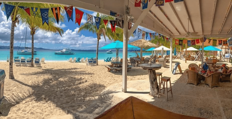 The Soggy Dollar Bar on Jost Van Dyke, BVI