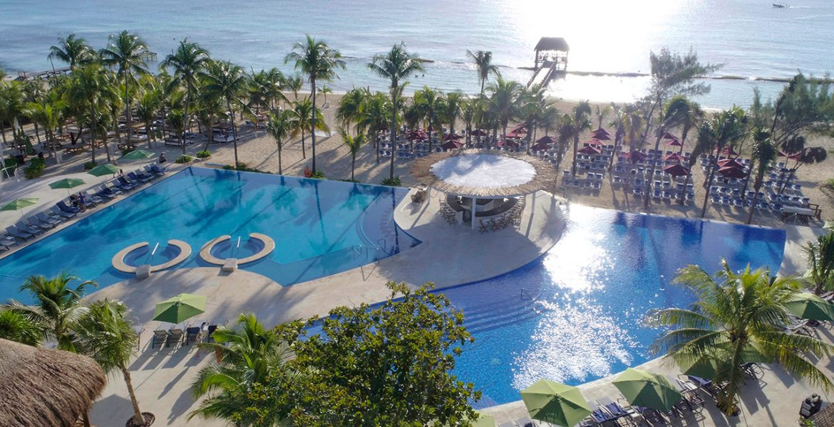 aerial-view-pool-The-Fives-Azul-Beach-Resort-by-Karisma-playa-del-carmen-mexico