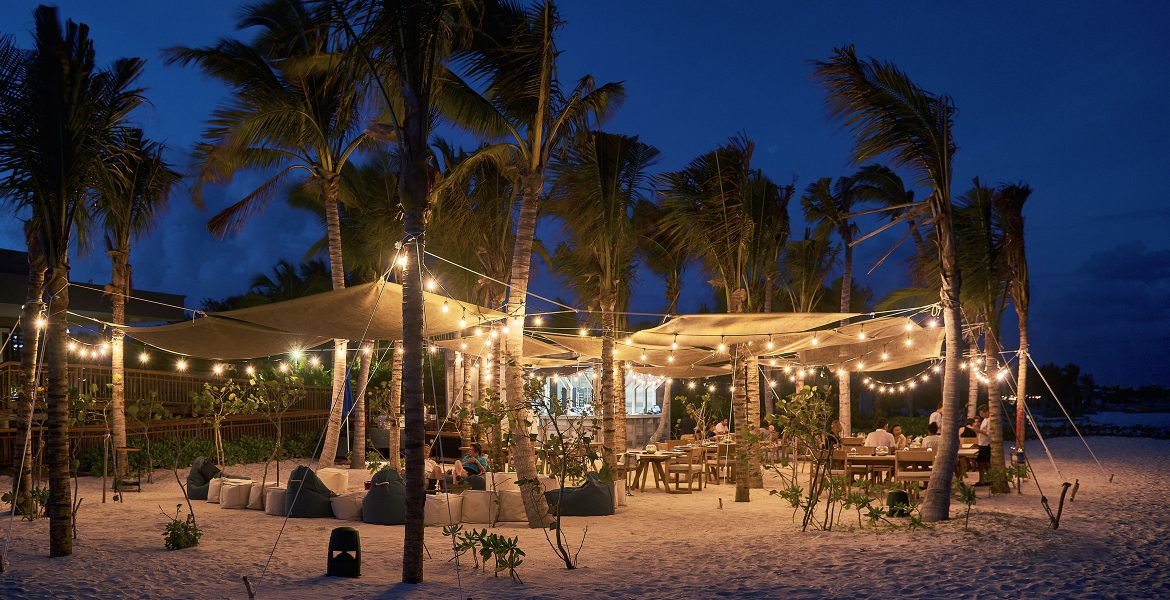 beach-hangout-nighttime-andaz-mayakoba-resort-playa-del-carmen-mexico