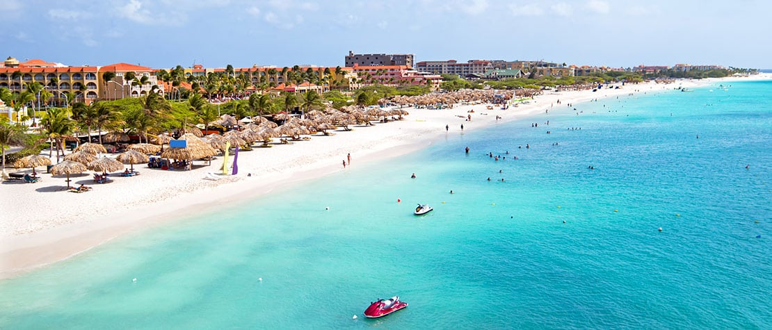 Arial View of Eagle Beach, Aruba