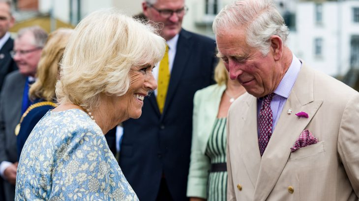 Prince Charles and Camilla Duchess of Cornwall laughing together
