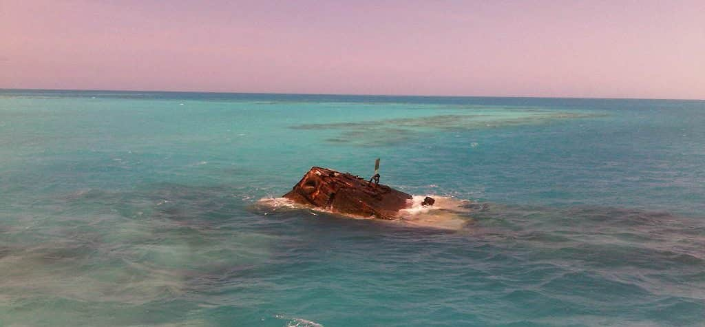 Photo of the HMS Vixen in the Bermuda Triangle