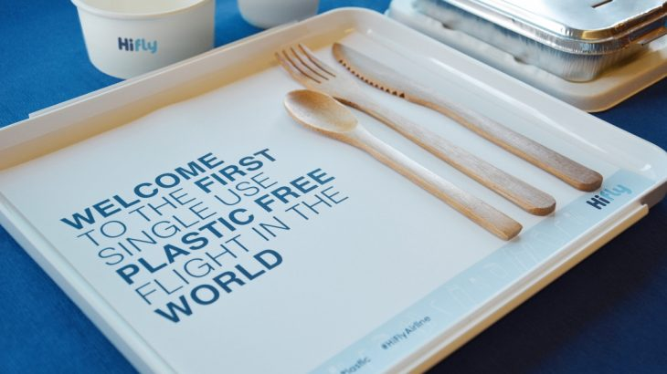 first-plastic-free-flight-tray-hi-fly-airline