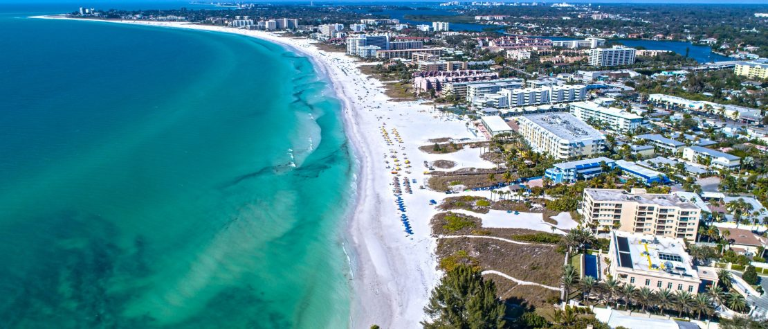 aerial view of Siesta Key Beach