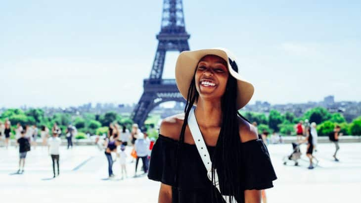 african american woman paris eiffel tower travel captions for instagram