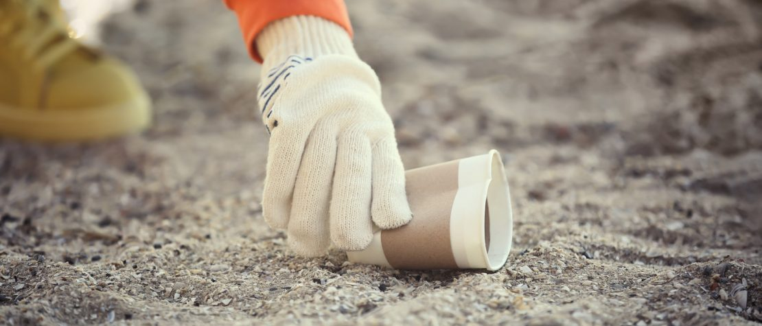 beach cleanup supplies protective gloves