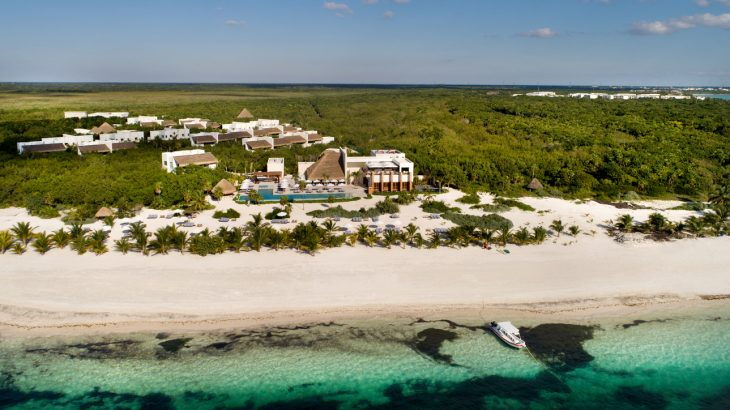 aerial-view-of-chable-maroma-on-the-beach